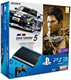 Console PS3 Ultra slim 500 Go noire + Gran Turismo 5 - �dition academy + Uncharted 3 : l'illusion de Drake - �dition jeu de l'ann�e - Jeux en version tch�que, fran�ais disponible