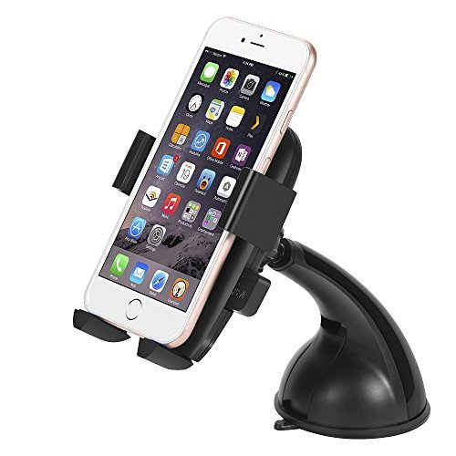 Car Mount, JOOMFEEN Car Holder Universal Universal 360 Degree Swivel Car Cradle For Apple iPhone 6 6 Plus 6S 6S Plus 5S,iPod Touch,Samsung Galaxy S6 S6 Edge S5 S4,Nokia,Motorola,Blackberry,HTC (Black)