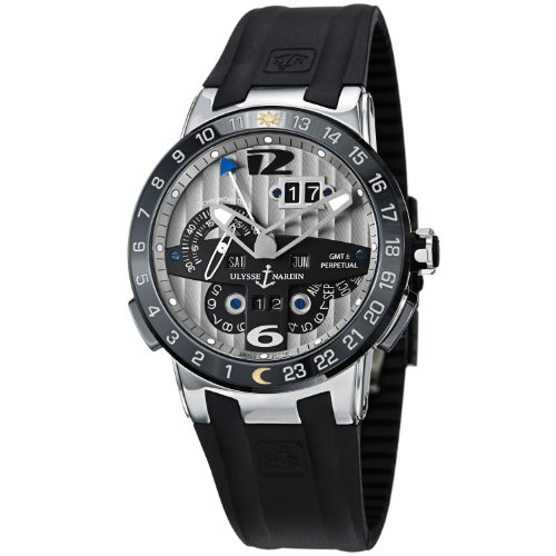 Ulysse Nardin El Toro Perpetual Calendar Automatic Rubber Strap Watch 329-00/3