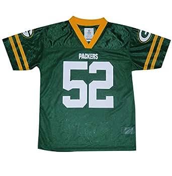 NFL Green Bay Packers Matthews #52 Boys Athletic Short Sleeve Jersey M/5-6 Green