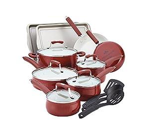 Paula Deen Savannah Collection Aluminum Nonstick 17-Piece Cookware Set