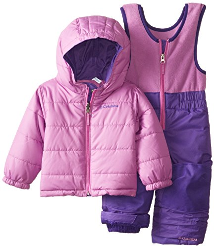 Columbia Baby-Girls Infant Double Flake Reversible Set, Hyper Purple/Blossom Pink, 18-24 Months front-1078237