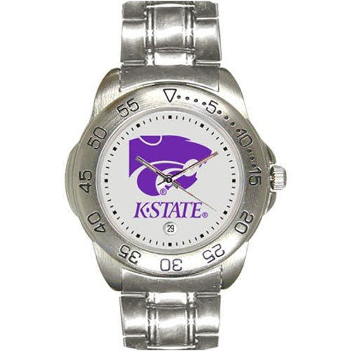 Kansas State Wildcats Men&#8217;s Gameday Sport Watch w/Stainless Steel Band