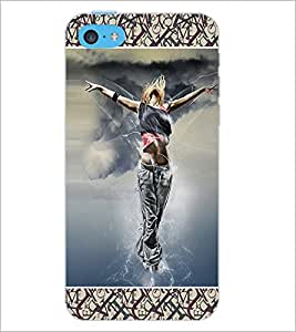 PrintDhaba Dancing Girls D-4636 Back Case Cover for APPLE IPHONE 5C (Multi-Coloured)