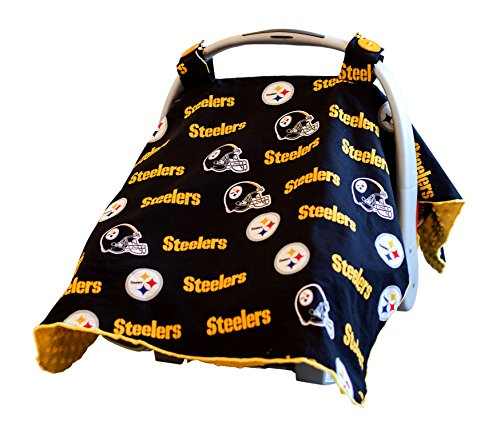 Baby Fanatic Car Seat Canopy, Pittsburgh Steelers by Baby Fanatic