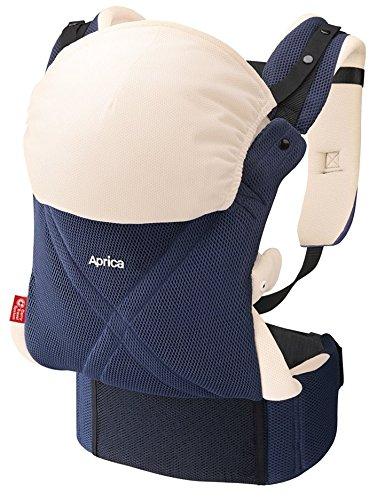 Aprica (アップリカ) 【体重2500gから使える】 腰ベルト付抱っこひも コランCTS クロスフィット ネイビーNV 4WAYタイプ 【もっちり肩パッド & 3Dメッシュ & サポートハーネス付】 39564