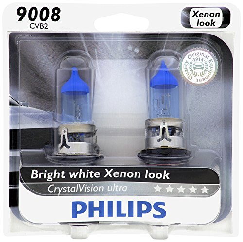 Philips 9008 / H13 CrystalVision Ultra Upgrade Headlight Bulb, 2 Pack (2014 Ram Headlight Bulb compare prices)