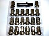 盗難防止 カラー 選べる ホイール ロック ナット M12 × P1.5 20個 セット (ガンメタ)