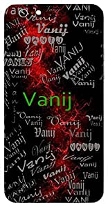 Vanij (Lord Shiva) Name & Sign Printed All over customize & Personalized!! Protective back cover for your Smart Phone : Samsung Galaxy S6 Edge
