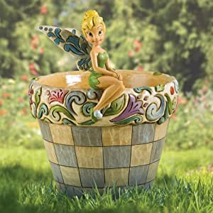 Disney Traditions designed by Jim Shore for Enesco Tinker Bell Flower Pot Planter 7.5 IN