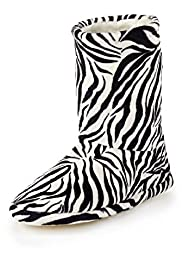 Zebra Design Boot Slippers