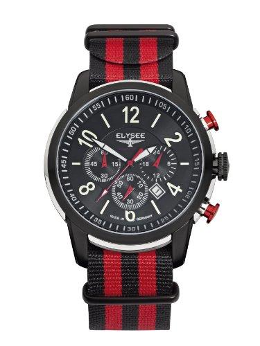 Elysee Herren-Armbanduhr Race 1 Chronograph Nylon Mehrfarbig 80524