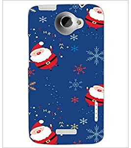 PrintDhaba Santa Claus D-2230 Back Case Cover for HTC ONE X (Multi-Coloured)