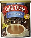 Caffe D'Vita French Vanilla Cappuccino, 16 Ounce Cans (Pack of 6)