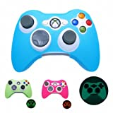 51kzpGQYXVL. SL160  BLUE GLOW in DARK Xbox 360 Game Controller Silicone Case Skin Protector Cover (Many Colors Available)