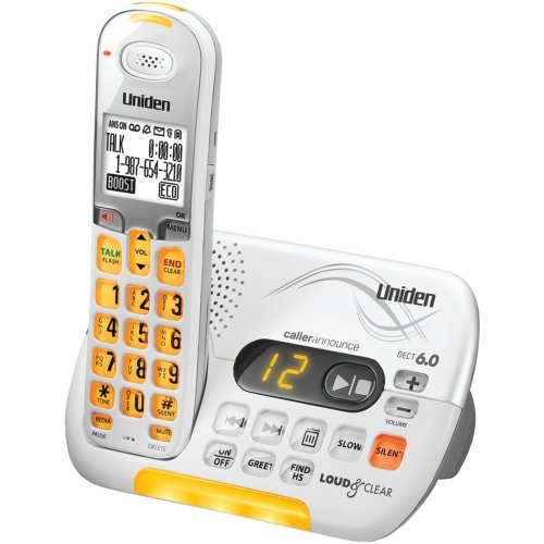 Uniden DECT 6.0 Cordless Phone with Caller ID Answering System - White (D3097)