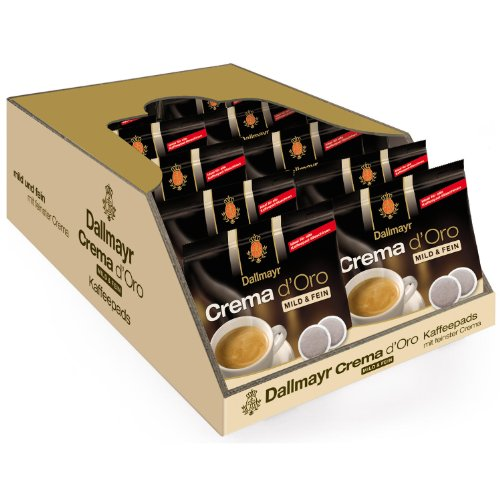 Dallmayr Crema d Oro mild & fein, Pack of 10, 10 x 16 Coffee Pods