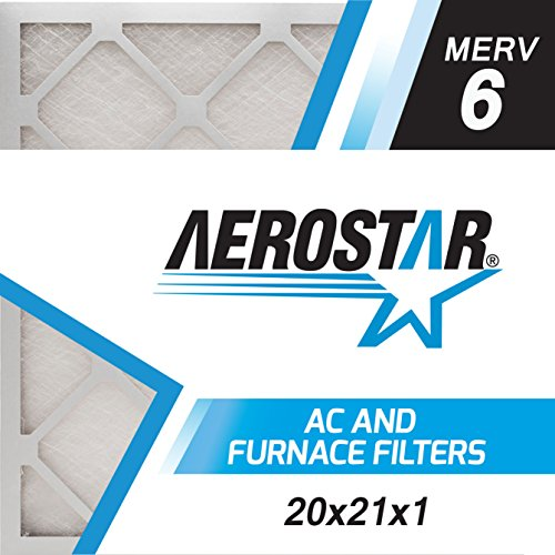 20x21x1 AC and Furnace Air Filter by Aerostar - MERV 6, Box of 12
