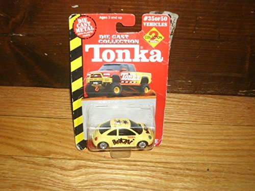 Tonka Die Cast Collection 2 VW New Beetle Yellow #35 Of 50