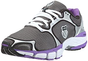 K-Swiss Women's California Athletic Shoes,Charcoal/Silver/Neon Violet,7 M US