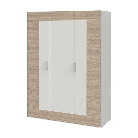 kleiderschrank mit schiebet ren 100 cm breit brachwitz saale. Black Bedroom Furniture Sets. Home Design Ideas