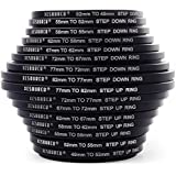 XCSOURCE 8x Step Up + 8x Step Down Ring Filter Adapter 49-82mm 82-49mm DC147