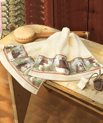 Set of 2 Towels In the Woods Bath Ensemble