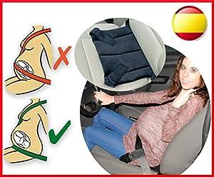 Cinturón para embarazada de seguridad en el coche que protege al bebé y la mamá evitando el riesgo de aborto - adaptador como Clippasafe y besafe en BebeHogar.com