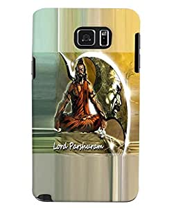 Fuson Premium Lord Parashuram Printed Hard Plastic Back Case Cover for Samsung Galaxy Note 5