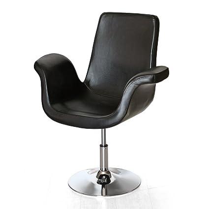 Cribel Plaza sillón, metal cromado, imitación de cuero, Negro
