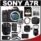 Sony Alpha A7R Digital Camera Body with 28-70mm Zoom Lens & HVL-F60M Flash + 64GB Card + Case + Battery/Charger + Tripod Kit