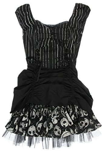 The Nightmare Before Christmas Pinstripe Lace-Up Dress (Small)