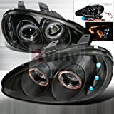 Spec-D Tuning 2LHP-MX392JM-APC Mazda Mx3 Black Halo Led Projector Headlights