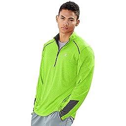 Champion Men\'s Vapor 6.2 Half-Zip Jacket, Forging Green Heather/Stormy Night, Large