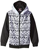 Southpole Big Boys' Hooded Full Zip Fleece With Sherpa Lining and Aztec Prints