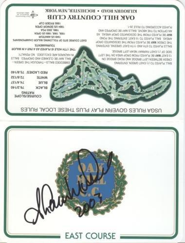 Shaun Micheel Autographed Oak Hill Country Club Golf Scorecard - 2003 PGA Championship