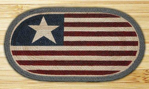 Original Flag 1032 Hand Printed Rug Jute 15 X 27