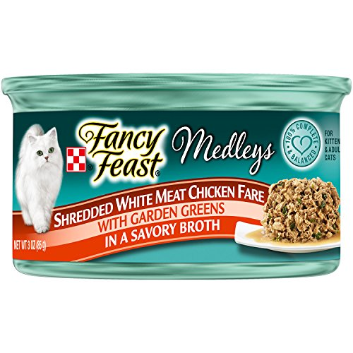 Fancy Feast Elegant Medleys Shredded White Meat Chicken Fare, 3-Ounce Can, Pack of 24 (Fancy Feast Meat compare prices)