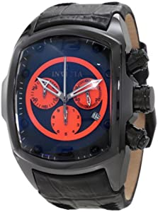Invicta Men's 10286 Lupah Chronograph Black Dial Black Leather Watch at Sears.com
