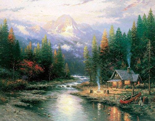Van Eyck Pastoral Mountain Scenery Printed Thomas Kinkade Landscape ...