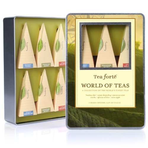 Tea Forte Medium Tin Sampler Collection - World Of Teas