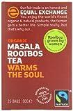 Equal Exchange Organic Masala Rooibos Tea 25 Teabags (Pack of 6, Total 150 Teabags)