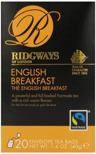 Ridgways English Breakfast Tea, 20 Tea Bags (Pack Of 6)
