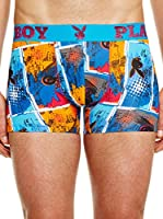 Playboy Bóxer Fashion Styles (Azul / Multicolor)