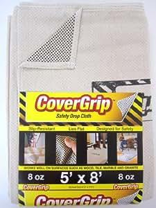 CoverGrip 005808 Safety Drop Cloth, 5-Feet by 8-Feet