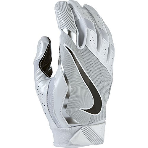 Nike Men's Vapor Jet 4.0 Football Receiver Gloves White/Wolf Grey/Black Small (Nike Vapor Jet Small compare prices)