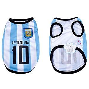 2014 FIFA World Cup Football Soccer Pet Dog Mesh Vest T-shirt Jerseys Breathable Argentina M Size