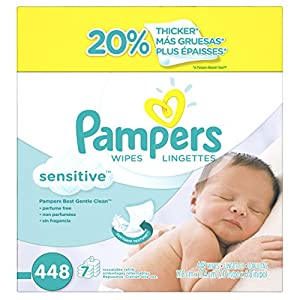 Pampers Sensitive Wipes, 7x Box, 448 Count