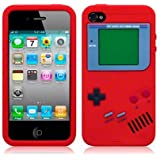 Generic MC0107 Cell Phone Case for iPhone 4 & 4s - Non-Retail Packaging - Red