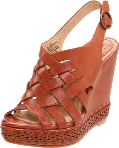 Frye Women's Corrina Strappy Cog Wedge Heels 73366 4 UK